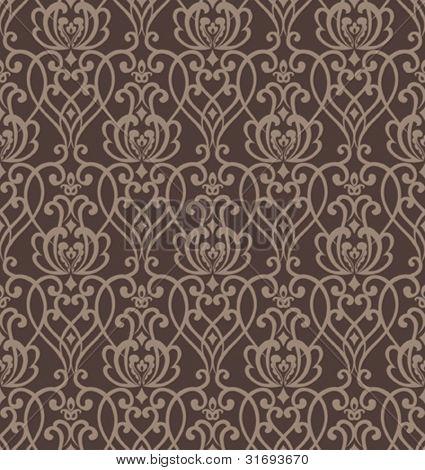 Damask seamless pattern. Vector illustration.