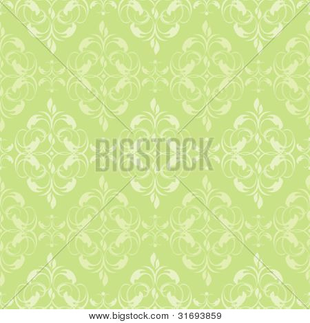 Seamless damask pattern. Vector illustration.