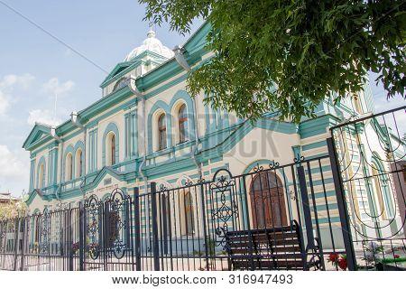 Irkutsk, Russia - August 12, 2019: Synagogue. House Of The Jewish Community 1870s Architect Kudelsky