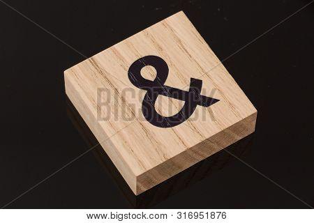 Ampersand Wooden Block Tile