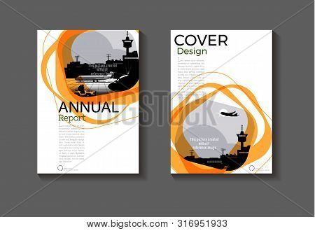 Brown Cover Abstract Background Design Modern Book  Brochure  Template,annual Report, Magazine And F