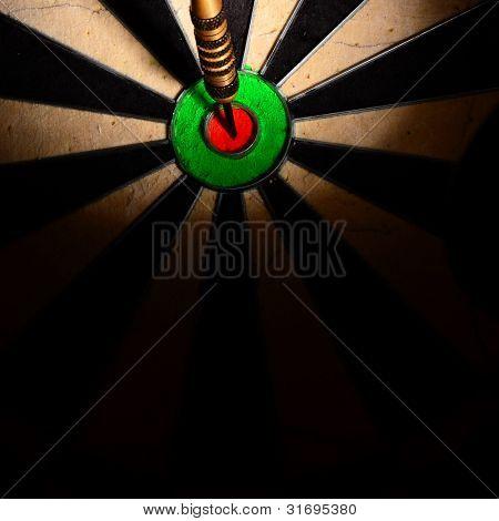 darts hit the target in bull