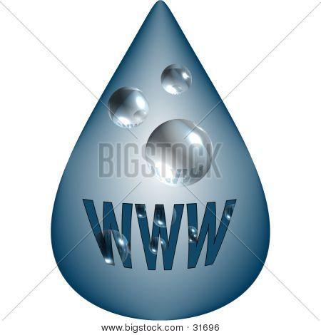 WWW Drop Design Element