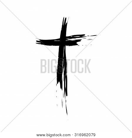 Hand drawn christian cross signs. Religion symbol, Catholicism icon. Signs and symbols icon can be used for web, logo, mobile app, UI, UX poster