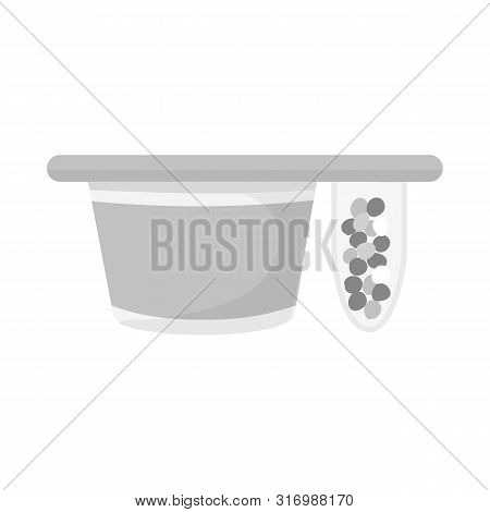 Isolated Object Of Packing And Yogurt Sign. Collection Of Packing And Crispy Vector Icon For Stock.