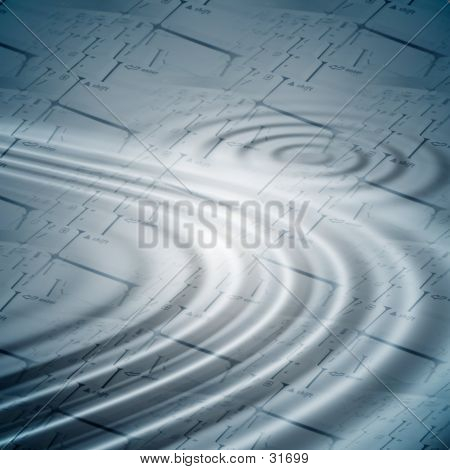Background With Ripples Over Keyboards