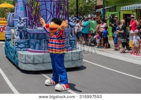 Orlando, Florida. August 07, 2019. Ernie In Sesame Street At Seaworld 2