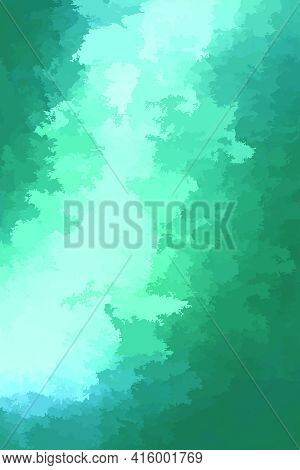 Abstract Modern Vector Teal Background, Vertical Format. Digitally Generated Contemporary Wallpaper.