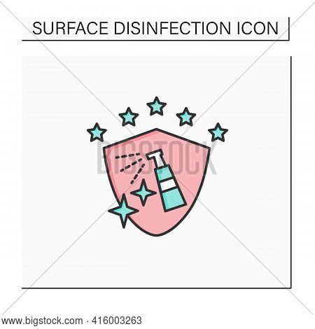 Disinfection Services Color Icon. Sanitary And Epidemiological Control. Safety Space And Preventativ