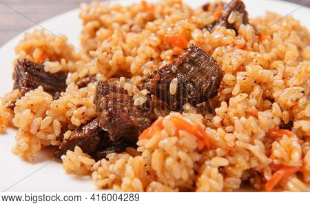 Asian Cuisine , Meat Hot Pilaf, Asian Cuisine , Meat Hot Pilaf,