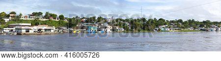 Santo Antonio Do Ica, Brazil, March 18: Panorama Of The Village And The Harbor Of Santo Antonio Do I