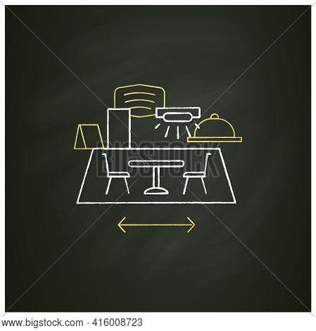 Restaurant Disinfection Chalk Icon.ultraviolet Light Disinfection.furniture Disinfect.regulation Thr