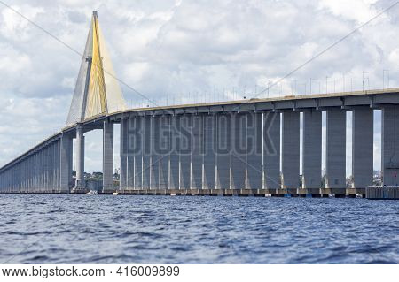The Manaus-iranduba Bridge (called Ponte Rio Negro In Brazil) Is A Bridge Over The Rio Negro With 35