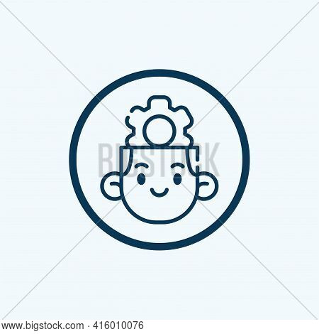 Setting Icon Isolated On White Background From Interface Collection. Setting Icon Trendy And Modern