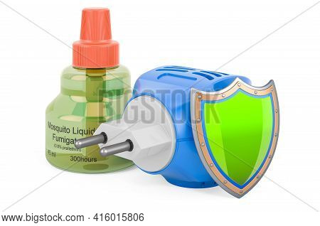 Fumigator With Shield, 3d Rendering Isolated On White Background