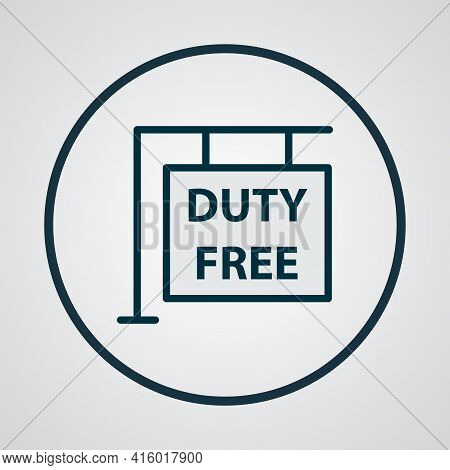 Hanging Board Icon Colored Line Symbol. Premium Quality Isolated Duty Free Zone Element In Trendy St
