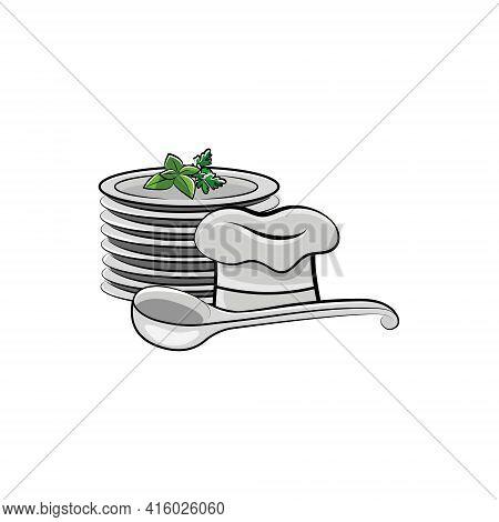 Cook Cap, Cookware Ladle. Haute Cuisine. Kitchen Utensils