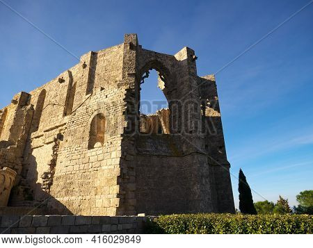 Remains Of A Ruined Abbey In The South Of France