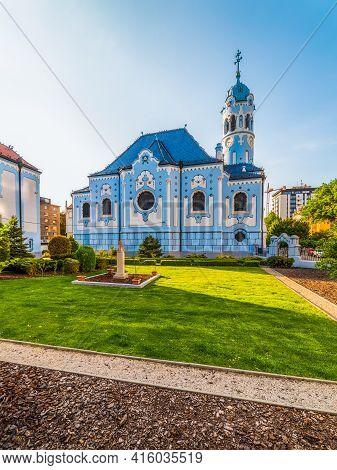 The Blue Church Or The Church Of St. Elizabeth Or Modry Kostolik In The Old Town In Bratislava, Slov