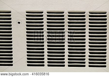 Macro View Of A White Air Duct Vents
