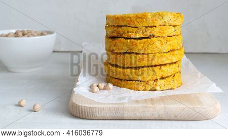 How To Make A Cutlet For Veggie Chickpea Burger At Home. Step By Step Instruction. Step 9. Chickpea