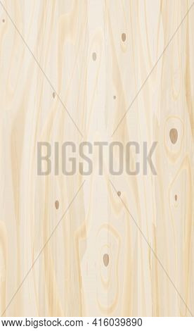 Realistic Large Sheet Of Light Plywood, Wood Texture - Vector Illustration
