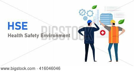 Hse Health Safety Environment Concept Of Workplace Protection Compliance