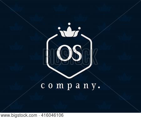 Letter Os, O Or S Crown Royal Style Logo. Graceful Monogram And Elegant Calligraphy. The Creative Vi