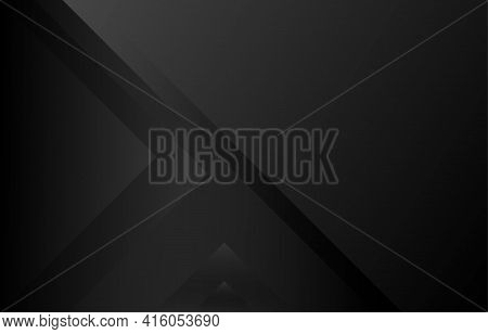 Black Abstract Geometric Triangle Layer Style Minimal Subtle Background Vector Illustration.