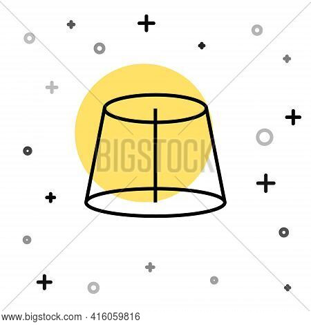Black Line Geometric Figure Icon Isolated On White Background. Abstract Shape. Geometric Ornament. R