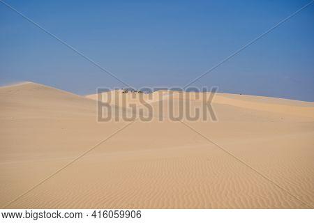 18.02.2021 Vietnam, Mui Ne: Rent A Car For Driving On The Sand Dunes. 4 Wheel Drive Sand Car
