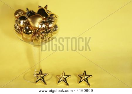 Golden Christmas Ornament Champagne