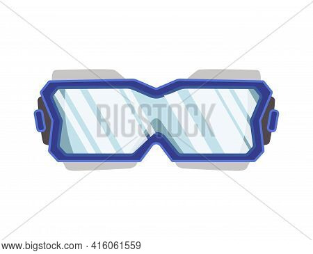 Snorkel Mask For Diving And Swimming. Illustration Of Swimming Masks Or Goggles For Scuba Diving. Re