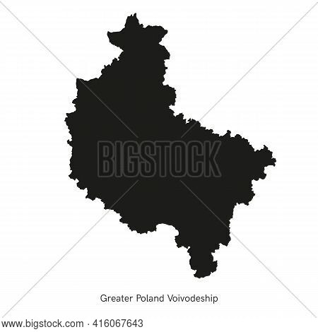 Vector Illustration Administrative Map Of Poland. Greater Poland Voivodeship Map With Gminas