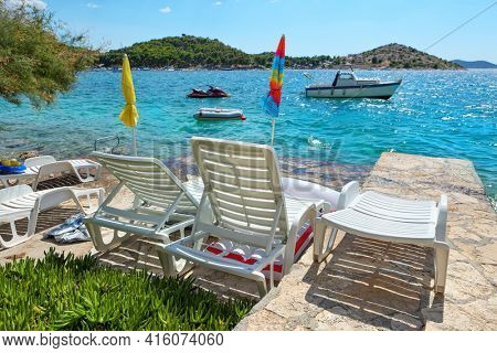 Relax on the beach with a beautiful view