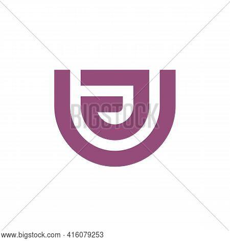 Initial Letter Ua Or Au Logo Design Template Elements, Simple Monogram Logo Vector