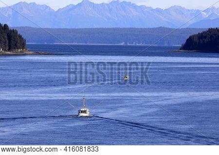 Strait Point, Alaska / Usa - August 13, 2019: A Fisherman Boat At Strait Point, Strait Point, Alaska