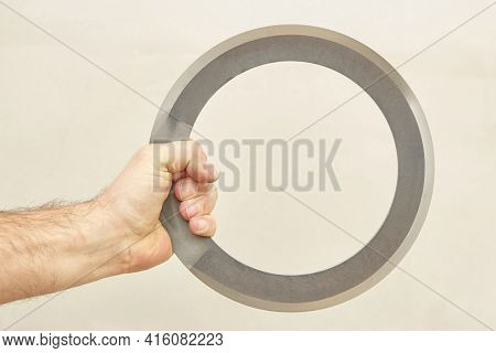Chakram Grip Used For Cutting Hit In Defensive Combat