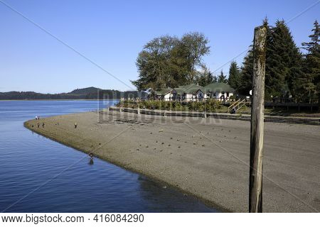 Strait Point, Alaska / Usa - August 13, 2019: Strait Point View, Strait Point, Alaska, Usa