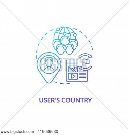User Country Blue Gradient Concept Icon. Audience Segmentation. Target Marketing. Business Networkin