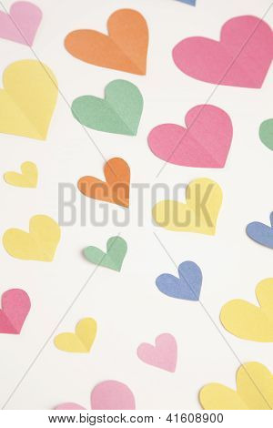 Colorful Construction Paper Hearts