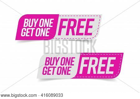 Tag Bogo Template. Buy One Get One Free Guarantee Profit Commerce Banner Advertising Cheap Shopping