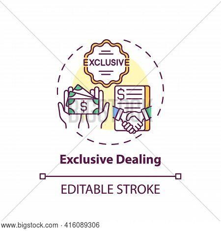 Exclusive Dealing Concept Icon. Anti-competitive Practices Type Idea Thin Line Illustration. Purchas