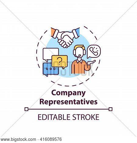 Company Representatives Concept Icon. Consumer Protection Service Idea Thin Line Illustration. Consu