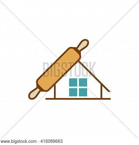 House Bakery Logo Design Vector Illustration, Creative Bakery Logo Design Concept Template, Symbols