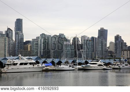 Vancouver, America - August 18, 2019: Vancouver View, Vancouver, America