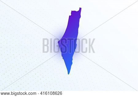 Map Icon Of Israel. Colorful Gradient Map On Light Background. Modern Digital Graphic Design. Light