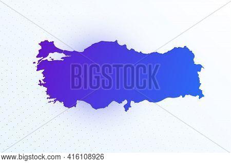 Map Icon Of Turkey. Colorful Gradient Map On Light Background. Modern Digital Graphic Design. Light