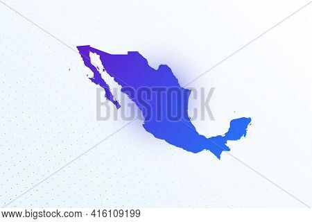 Map Icon Of Mexico. Colorful Gradient Map On Light Background. Modern Digital Graphic Design. Light