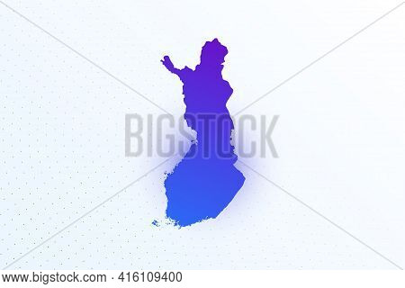 Map Icon Of Finland. Colorful Gradient Map On Light Background. Modern Digital Graphic Design. Light